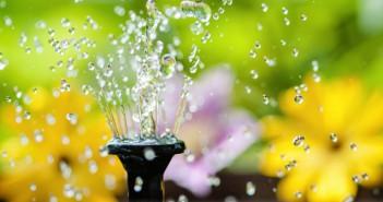 Brunnen im eigenen Garten