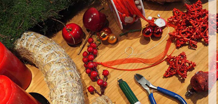 Kreativ in den Advent: Impressionen Adventskranz selbstgemacht