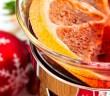 Weihnachtsdeko mit Orangentee