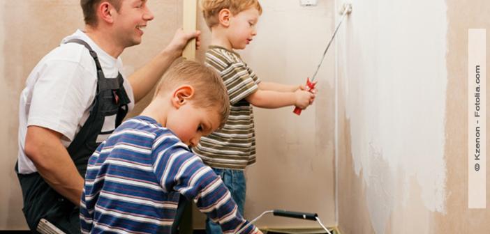 hausbau mit kleineren kindern