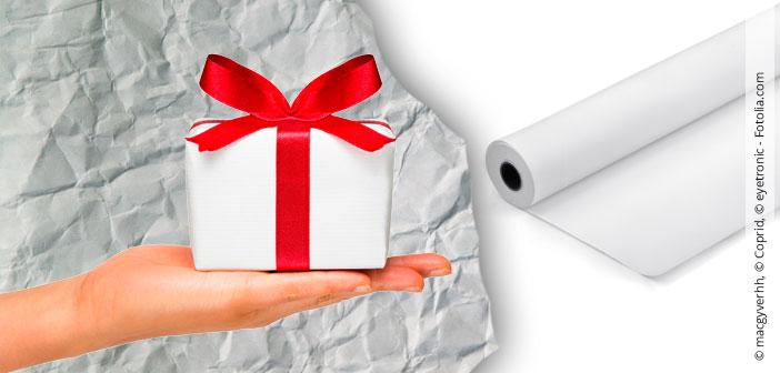 Schnittmusterpapier als Geschenkpapier verwenden
