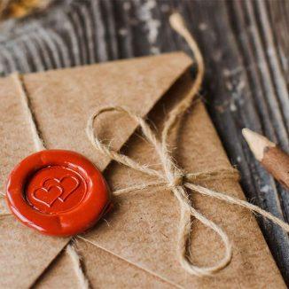 selbstgeschriebener Leibesbrief mit Siegel