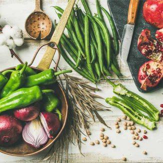 Gemüse auf einem Tisch